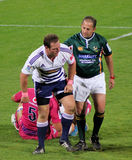Rugby Liebenberg e Kaplan Sudafrica Fotografia Stock