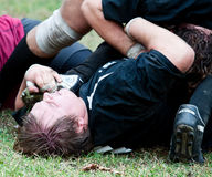 Rugby-Liga-Abgleichung. Lizenzfreie Stockfotografie
