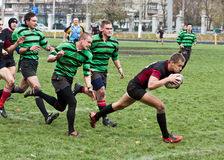 Rugby-Ligaabgleichung Stockfoto