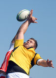 Rugby line-out in Dinamo Bucharest-CSM Bucharest Royalty Free Stock Photography