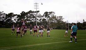 Rugby Lineout Throw Waitemata vs Waitakere City Stock Photos