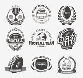 Rugby logo vector colorful set, Football badge logo template Stock Images