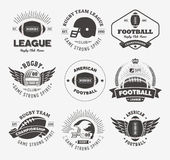 Rugby logo vector colorful set, Football badge logo template Stock Image