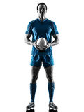 Rugby man player silhouette isolated Stock Image
