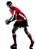 Rugby man player silhouette isolated Stock Photography