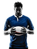 Rugby man player silhouette Royalty Free Stock Image