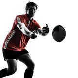 Rugby man player silhouette Stock Image