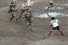 Rugby match. The mud sunday rugby match Royalty Free Stock Photos