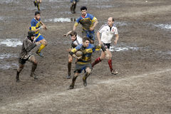 Rugby match. The mud sunday rugby match Royalty Free Stock Images
