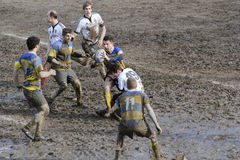 Rugby match. The mud sunday rugby match Royalty Free Stock Photo