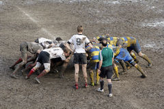 Rugby match. The mud sunday rugby match Stock Photography