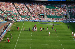 Rugby Match. Rugby international between England and France at Twickenham stadium in London Royalty Free Stock Images