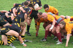 Rugby match royalty free stock photos