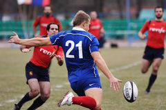 Rugby match. Royalty Free Stock Photo