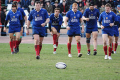 Rugby match. Royalty Free Stock Photography