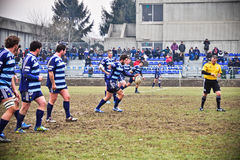 Rugby match Cus Torino Vs Amatori Parma Royalty Free Stock Image