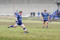 Rugby match Cus Torino Vs Amatori Parma Stock Photo