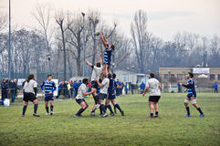 Rugby match Cus Torino Vs Amatori Parma Stock Image