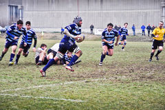 Rugby match Cus Torino Vs Amatori Parma Royalty Free Stock Images