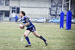 Rugby match Cus Torino Vs Amatori Parma Stock Photos