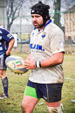 Rugby match Cus Torino Vs Amatori Parma Royalty Free Stock Photography