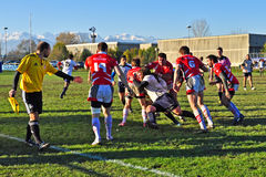 Rugby match Cus Torino Vs Rangers Vicenza stock photography
