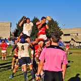 Rugby match Cus Torino Vs Rangers Vicenza Royalty Free Stock Photos