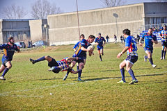 Rugby match Cus Torino Vs Rugby Paese Stock Photography