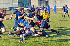 Rugby match Cus Torino Vs Rugby Paese royalty free stock images