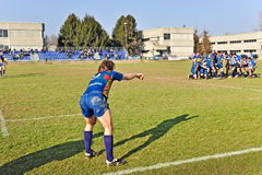 Rugby match Cus Torino Vs Rugby Paese Stock Images