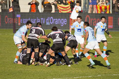 Rugby match Perpignan vs Brive Royalty Free Stock Image