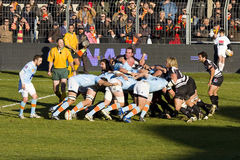 Rugby match Perpignan vs Brive Stock Photo