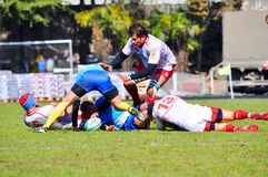 Rugby. A match Russia - Ukraine Stock Photos