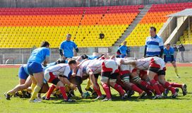 Rugby match Russia - Ukraine Royalty Free Stock Photos
