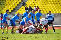 Rugby match Russia - Ukraine in Sochi Royalty Free Stock Image