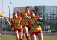 Rugby match USAT (France) v GETXO (Spai Royalty Free Stock Photo