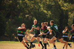 Rugby 7. Melbourne Teenager Rugby 7  American Football Royalty Free Stock Photo