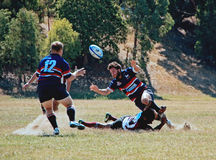 Rugby 7. Melbourne Teenager Rugby 7  American Football Royalty Free Stock Image