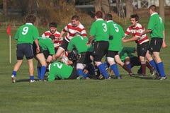 Rugby nell'azione Fotografie Stock Libere da Diritti