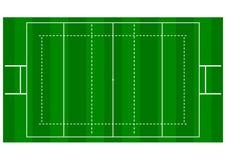 Rugby-Nicken - obenliegende Ansicht Stockfotografie