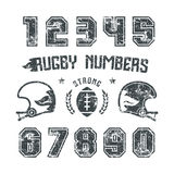 Rugby numbers for t-shirt Royalty Free Stock Image