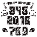 Rugby numbers for t-shirt Stock Photo