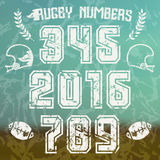 Rugby numbers for t-shirt Royalty Free Stock Photo