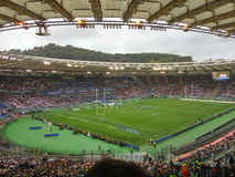 Rugby. In the olimpic stadium of rome Stock Photos