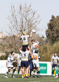 Rugby ondergeschikte spelers royalty-vrije stock foto's