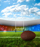 Rugby penalty kick Stock Photography