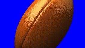 Rugby piłka na błękitnym chorma kluczu ilustracji