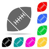 rugby piłki ikony Elementy ludzkiej sieci barwione ikony Premii ilości graficznego projekta ikona Prosta ikona dla stron internet Obraz Royalty Free