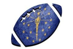 Rugby piłki Indiana stanu flaga Indiana flaga tła rugby bal obrazy royalty free