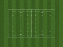 Rugby Pitch Layout Stock Image